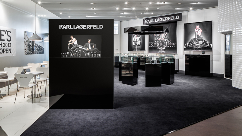 karl lagerfeld watch pop up shop savvy tokyo. Black Bedroom Furniture Sets. Home Design Ideas