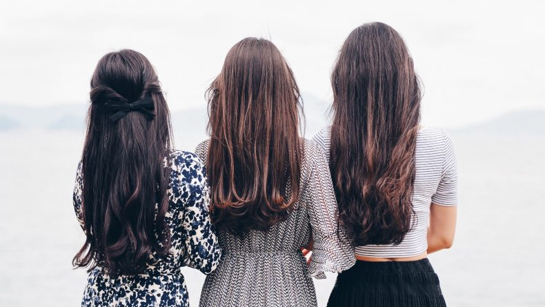 Three girls hairstyles