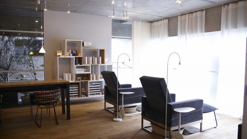uka Omotesando beauty salon interior