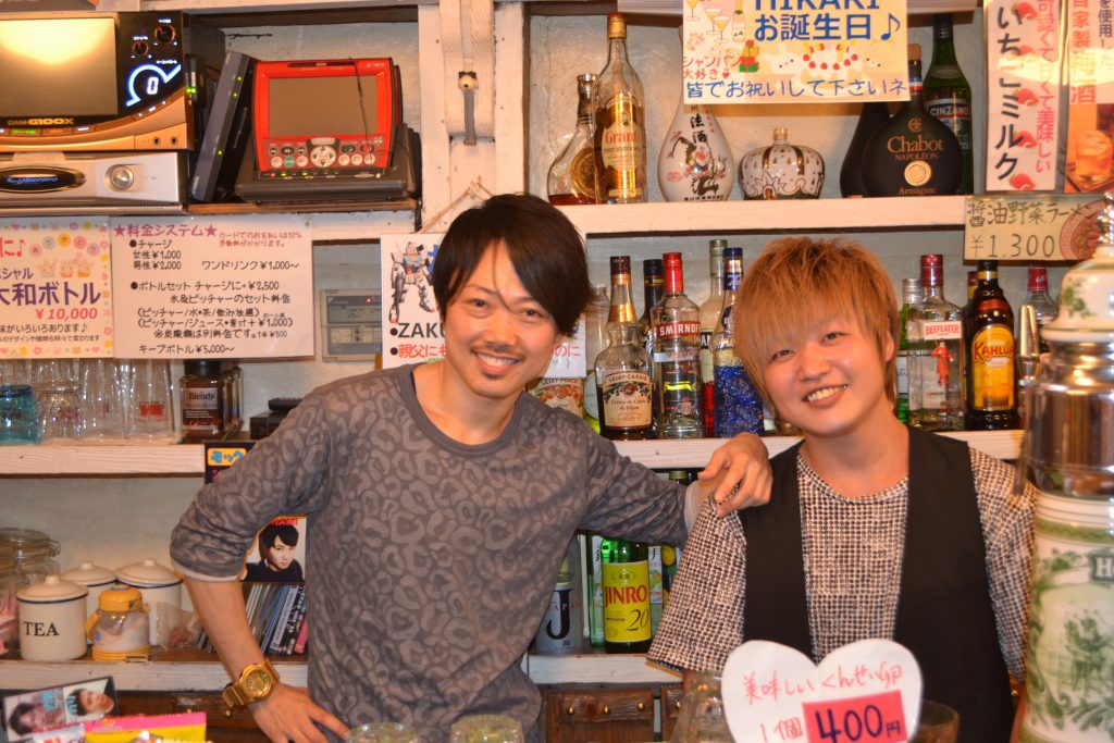 Mama Yamato (on the left) and one of his bartenders at New Marylin.