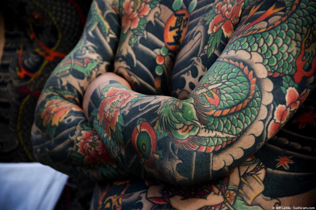 Irezumi Are Traditional Japanese Tattoos Done With A Needle Attached To Wooden Dowel Manually Poked Into The Skin While Tattoo Western Style Pieces