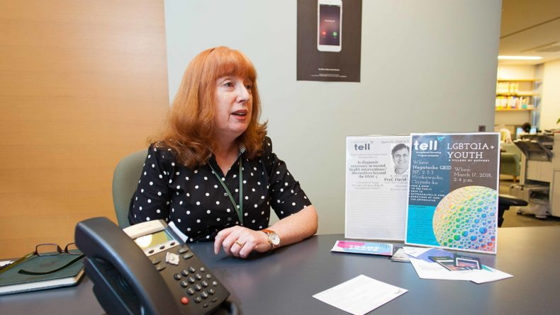 TELL Lifeline director Vickie Skorji at the Tell offices.